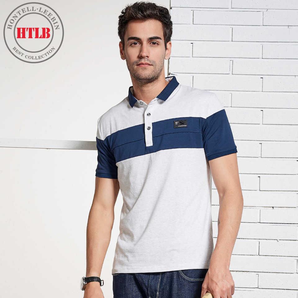 6d3ca47c721 HTLB Для мужчин рубашки поло бренд Для мужчин контраст Цвет Поло Camisa  Masculina Для Мужчин s Повседневное