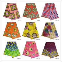 2019 Ankara African 100% Cotton Wax Prints Fabric new Hollandais Wax High Quality 6 yards African Fabric for Party Dress 1306 11