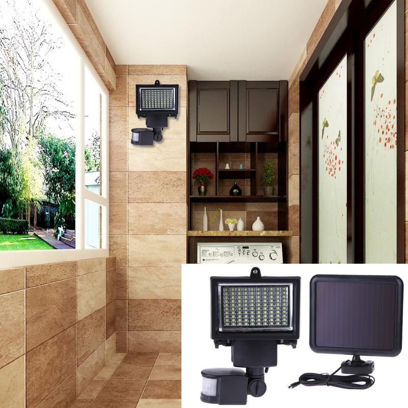 100 LEDs Light Waterproof Landscape Lamp Intelligent Solar Motion Sensor Outdoor Wall Lamp Garden Light