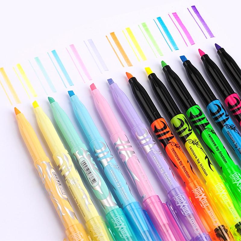 Japan Pilot SW FL Frixion Erasable Highlighter Pastel Color Fluorescent Marker Pen 6 Colors Japan