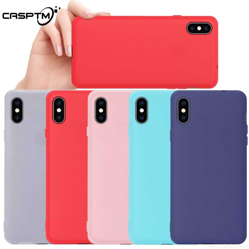 Candy Matte Soft Silicone Case For iPhone X XS Max XR 7 8 6 6S Plus Protective Phone Back Cover For iPhone X XR Solid Color Case
