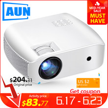 AUN MINI Projector F10, 1920*720P Resolution, LED Proyector for Home Cinema,Support Full HD Portable 3D beamer(China)