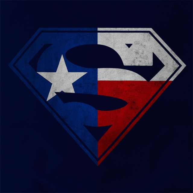 97ecedef5d6 Texas Flag in Superman Logo Mens T-shirt, Lone Star Longhorns Dallas Cowboys  2018 Hot Sales Summer Tops Tees T Shirt