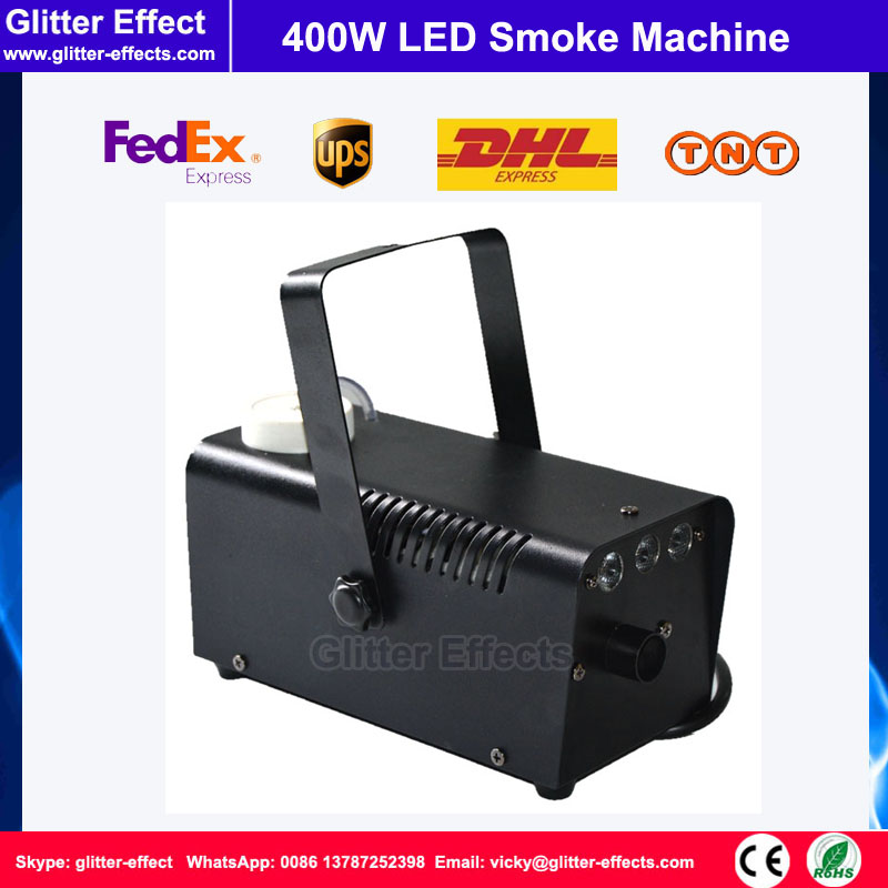 LED 400W stage special effect smoke machine DJ Disco small mini wire control LED fog jet stage party show smoke machine