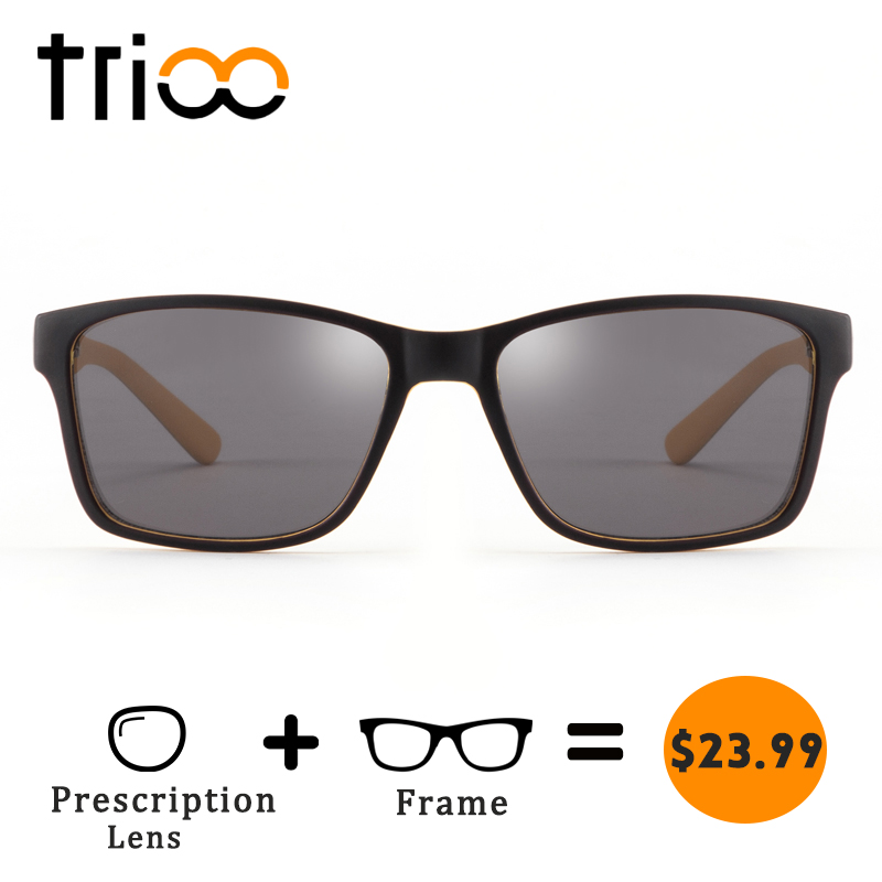 TRIOO Prescription Driving Glasses Unisex Traveling Diopter Sunglasses UV400 Protection Reading Lens Eye Glasses Fashion Classic