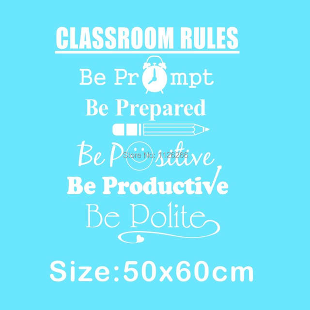 Online Shop Student Quotes Wall Decals Classroom Rules Art