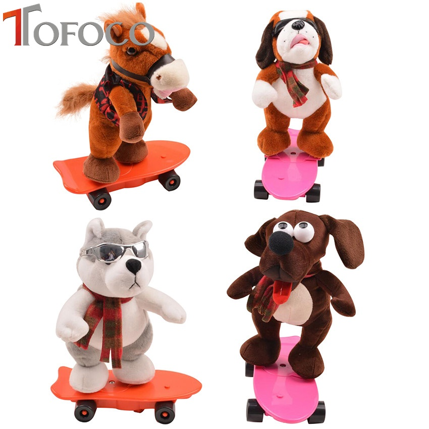 Ehrlich Tofoco Lustige Elektronische Haustiere Kühlen Skateboard Hunde Pferd Singen Tanzen Elektrische Plüsch Puppen Schöne Kuscheltiere SorgfäLtig AusgewäHlte Materialien