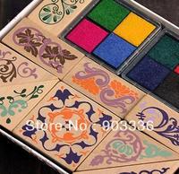 Stationery Square Vintage Laciness Stamp Set 10 PCS Set Wholesale Free Shipping