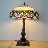 18 Cunxin shaped European Baroque Tiffanylamps bedroom living room decorated with glass bar lamps retro nostalgia Cafe bar
