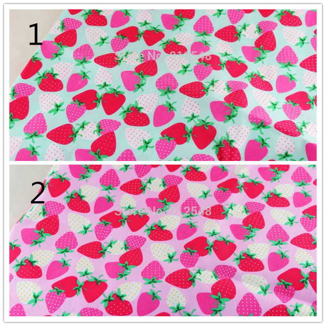 14122083 ,50cm*150cm Strawberry cotton fabric,diy handmade patchwork cotton fabric home textile Free shipping