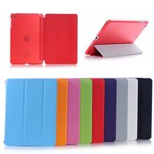 Heißer verkauf mode intelligente abdeckung für ipad 2 3 4 PU Leder Magnetic Cases + Kristall Harte PC Zurück Fall Für iPad 2/3/4 Retina shell