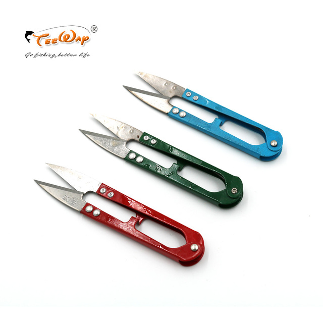 3Pcs/Lot Fish Use Scissors Line Cutter Fishing Scissors Handle With Covers Plastic Stainless Steel Fishing Tackle Tool