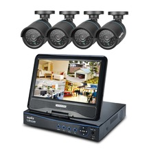 "SANNCE 10.1″ LCD 8CH HD 720P DVR 1200TVL Outdoor IR CCTV Security Camera System surveillance kit with10.1"" LCD Monitor Remote"