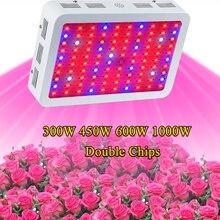 Cheapest Full Spectrum 300 W 450 W 600 W 1000 W Doble Chip LED Crece las lámparas de Luz Roja/Azul/blanco/UV/IR Para El cultivo hidropónico de plantas de interior