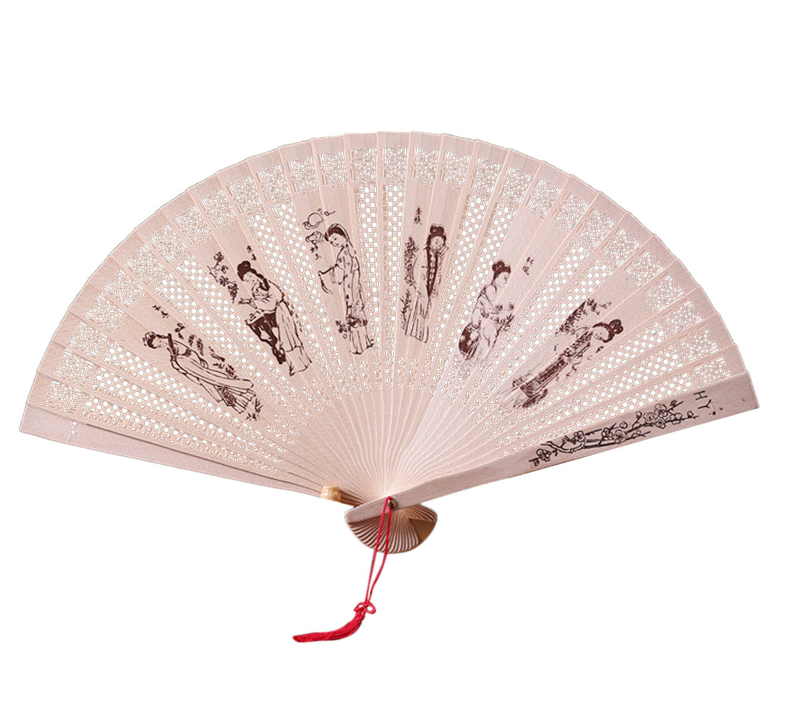Us 045 43 Offchinese Traditional Hollow Fan Wooden Hand Made Exquisite Folding Wedding Gift Summer Vintage Bamboo Folding Hand Held Gifts O In