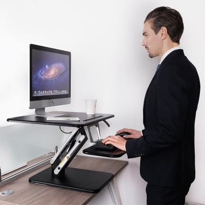 Hauteur réglable assis Stand bureau Riser ordinateur portable pliable moniteur bureau Notebook/moniteur support avec plateau de clavier
