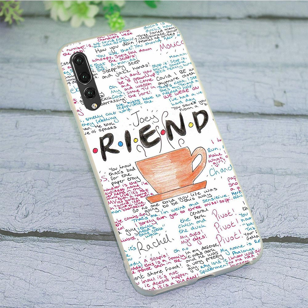 Soft TPU Silicone Cover for Huawei P8 Lite 2015 Friends TV Show Phone Case for P9 P10 P20 P30 P Smart 2018 2019 Mate 10 20 Pro image
