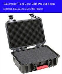 263x206x106 ملليمتر ABS أداة حالة صندوق أدوات تأثير مقاومة مختومة للماء حالة السلامة معدات حالة الكاميرا مع قبل قطع رغوة