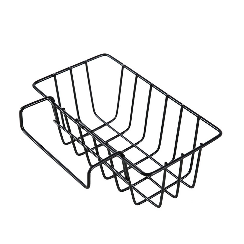 Storage Holder Sink Drain Basket Multi Function Dish Rack Hangs Practical Shelf Iron