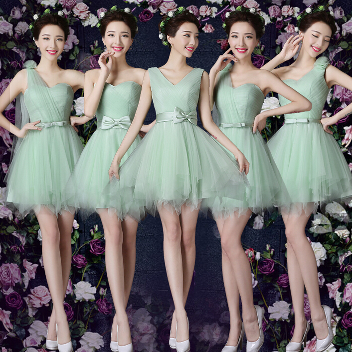 Apple bridesmaid dresses lace