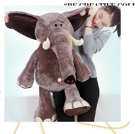 huge lovely plush elephant toy Jungle Series brown elephant doll birthday gift about 80cm big creative plush elephant toy lovely stuffed jungle elephant gift doll about 80cm