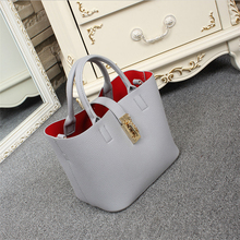 Brand  Women Handbag High Grade Leather  Luxury Women Bag Quality Female Shoulder Bag Famous Design Tote For Ladies Bolsas 2 Set