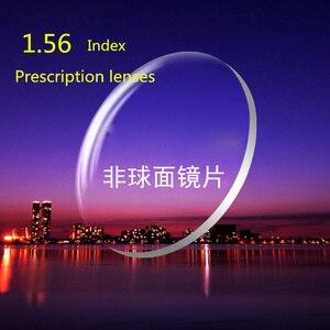 Image 1 - 1,56 Index Brillenglas CR 39 Harz Asphärische Linsen für Myopie/Hyperopie/Presbyopie Brille Objektiv Mit Beschichtung