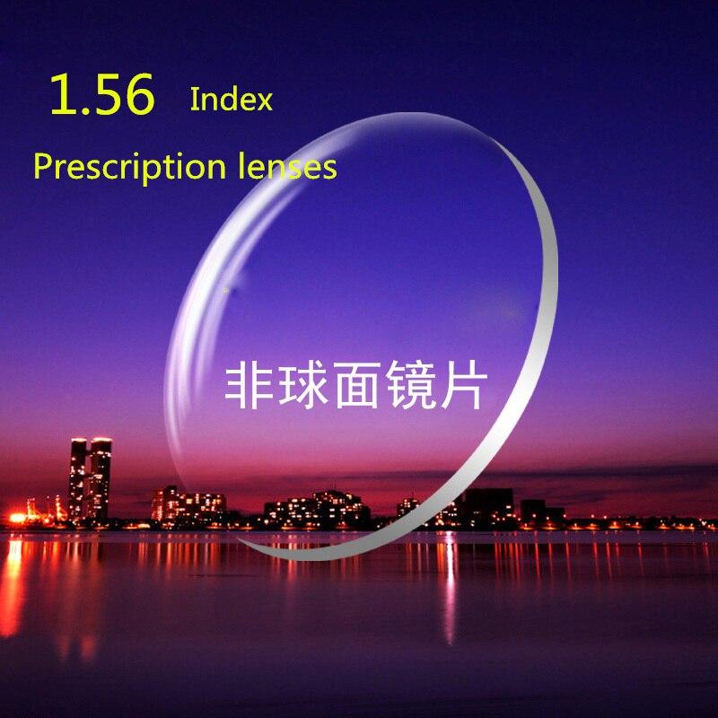 1.56 Index Prescription Lentilles CR-39 Résine Asphérique Lunettes pour la Myopie/Hypermétropie/Presbytie Lunettes Lentille Avec Revêtement