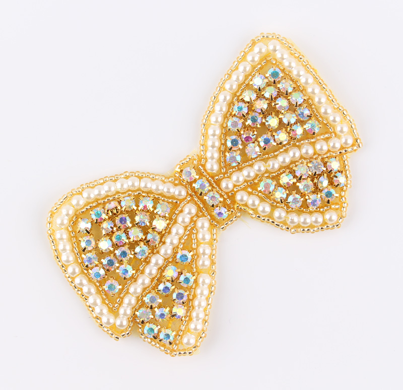 (2pcs lot)Handmade Shine Crystal Pearl AB Rhinestone Appliques Patch Newly  Hot- a9d50f414b29