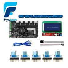 3D Printer Control Panel Board Gen V1.4 Integrated Ramps 1.4 and Mega 2560 Mainboard with 5PCS A4988 Stepper Motor Drivers