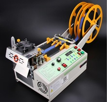 140T computer hot and cold Cloth belt cutting machine, magic adhesive tape zipper webbing machine elastic belt automatic cutting