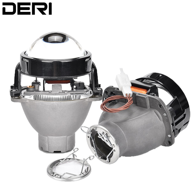 3 0 inch Q5 H7 D2S HID Bi Xenon Black Round Metal LED Headlight Projector Lens
