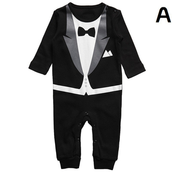 New fashion Christmas autumn children's rompers baby one pieces long sleeve body suits for boy clothes kid party A suit
