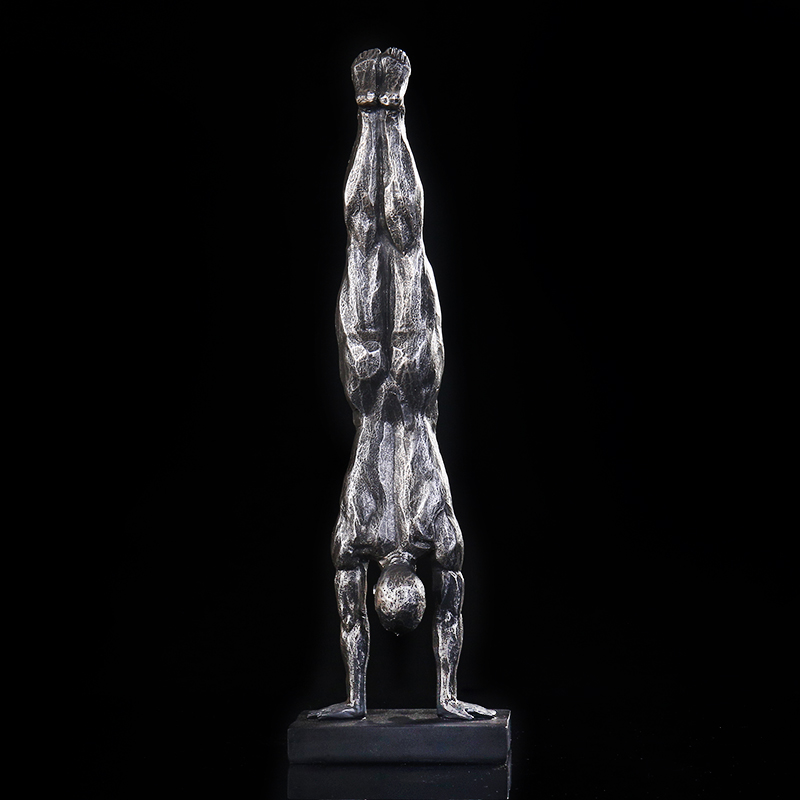 Abstract Men's Gymnastics Figurine Resin Handstand Sculpture Sports Character Decoration Ornament Gift And Craft Accessories