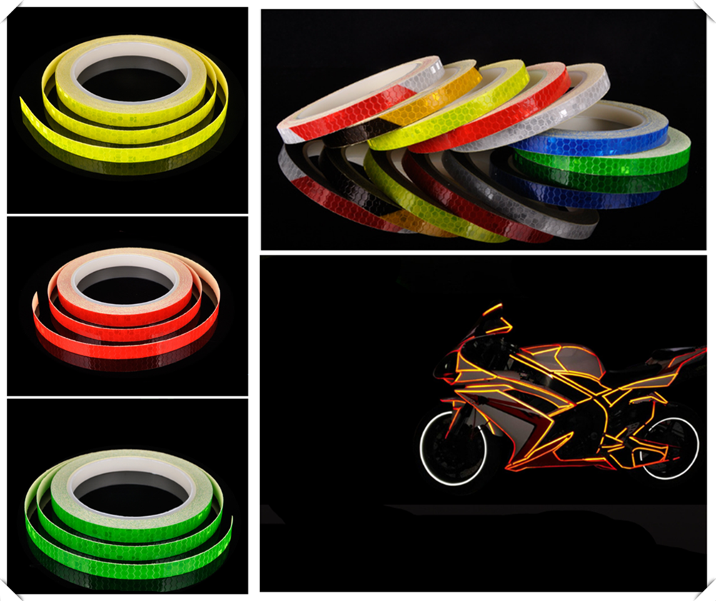 Motorcycle accessories bicycle car reflective tape sticker warning strip for <font><b>SUZUKI</b></font> GSF650 BANDIT GSX1250 F SA ABS <font><b>GSX1400</b></font> image