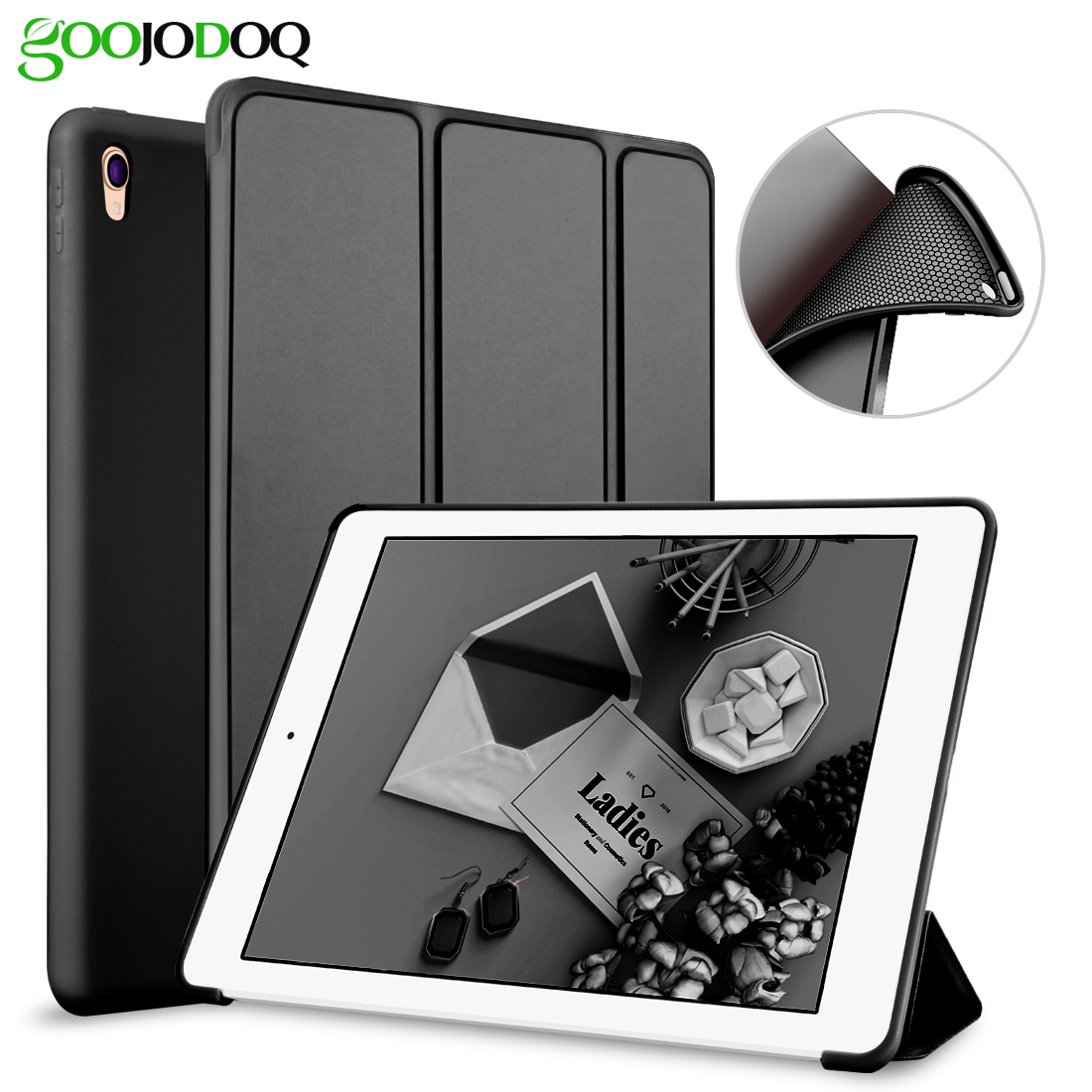 For iPad Pro 10.5 Case 2017, Slim PU Leather+Silicone Soft Back Smart Cover for Apple iPad Pro 10.5 inch A1701 A1709 Case for ipad mini4 cover high quality soft tpu rubber back case for ipad mini 4 silicone back cover semi transparent case shell skin