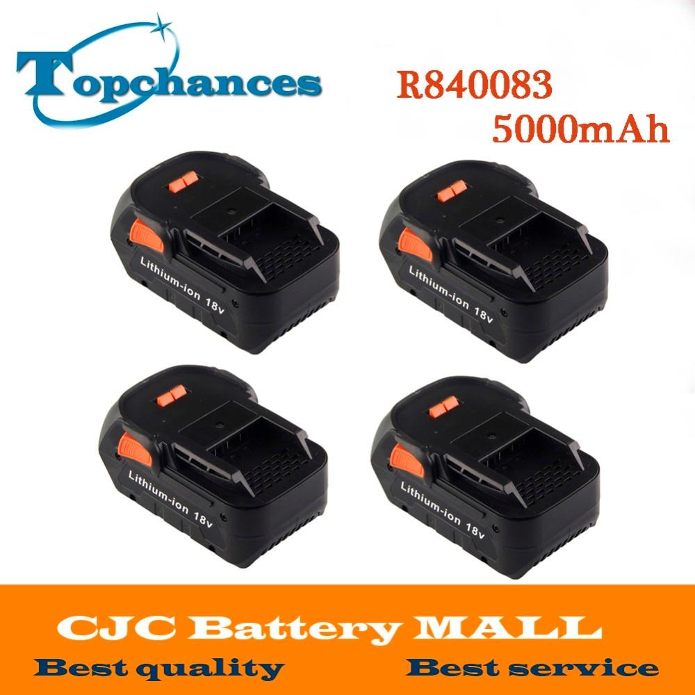 4x High Quality Newest 18V 5000mAh Li-ion battery for RIDGID R840083 CS0921 R84008 AC840084 L1830R For AEG Series Battery laptop battery for asus x552 x552cl x552e x552ea x552ep x552l x552ld x552vl x552la 15v 2950mah 44wh li ion oem