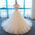 SL-63 Cap Manga vestido de noiva 2017 Alibaba Lace Backless Vestidos de Casamento