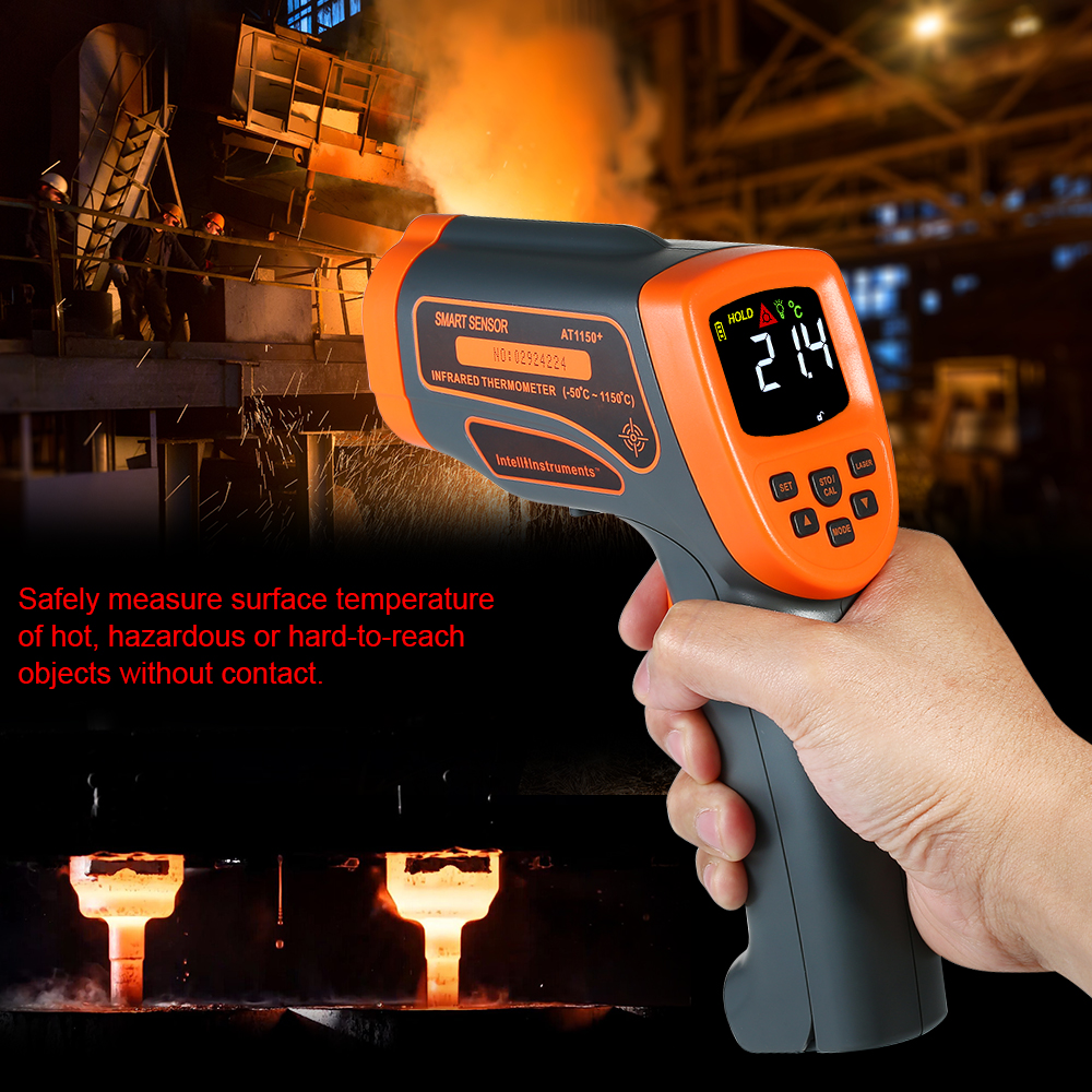 50~1150 C 20:1 Digital Non contact IR Infrared Handheld Thermometer Temperature LCD Tester Pyrometer with Centigrade Fahrenheit