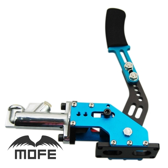 "MOFE Aluminum Alloy Universal 0.7"" Master Cylinder Locking Vertical Hydraulic Drift Handbrake Blue"