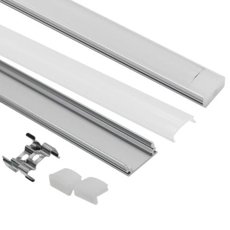 DHL 1 m LED bande en aluminium profil pour 5050 5730 LED dur bar lumière led bar en aluminium canal logement avec couvercle fin couverture