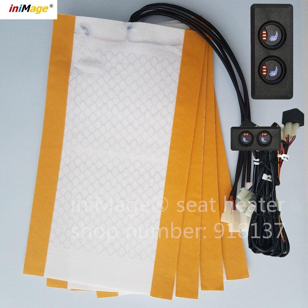 2 sièges installer, Polo, Sharan, Touran, interrupteur siège chauffant, siège chauffant, interrupteur de voiture, accessoires auto de chauffage de siège, réchauffeur de fibre de carbone