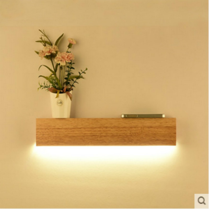 Simple wood wall lamp for bedroom led bedside lamp creative modern mirror headlamp cabinet bathroom wooden wall light IY121780 декоративні лампи із дерева у стилі бра
