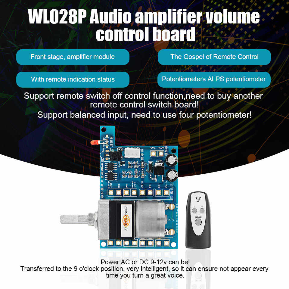 small resolution of  ac dc 9v infrared remote control volume control board alps pre potentiometer new integrated circuits
