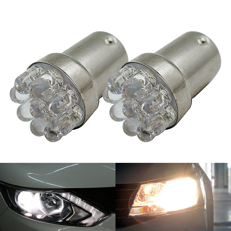 2pcs Car light bulb 1156 BA15S P21W S25 7506 R5W Car Leds lights 9 LED 2835 SMD Rear Turn Signal Lamp Backup Light DC 12V 3156 3w 1 smd led red light car steering backup light 12v