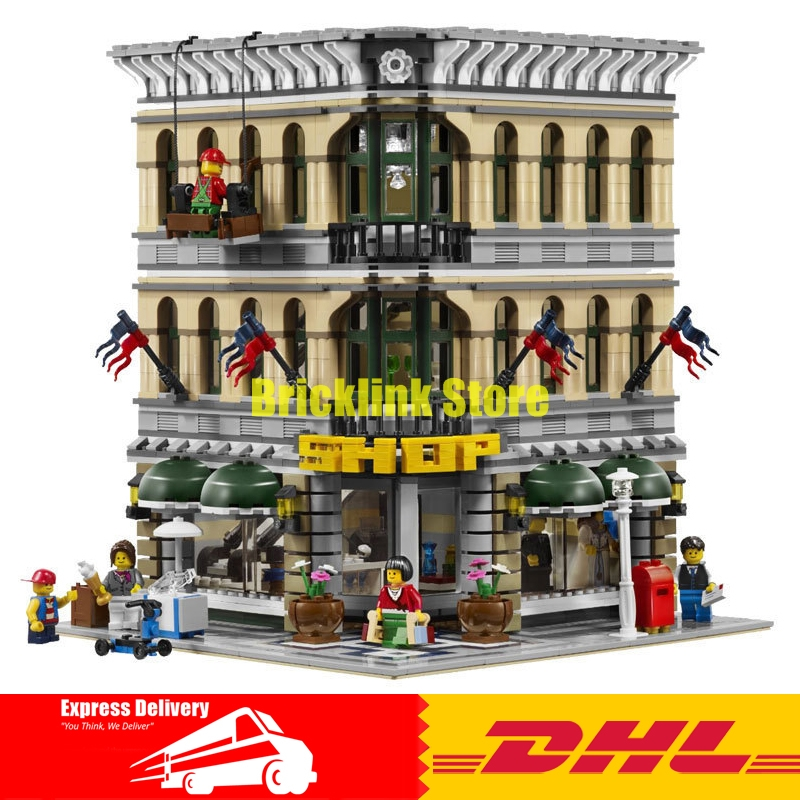 LEPIN 15005 2232pcs City Grand Emporium Model Building Blocks Funny Educational Lovely Gifts Kits Brick Toys Compatible 10211 superwit 72pcs big size city diy creative building blocks brick compatible with duplo sets lepin educational toys children gifts