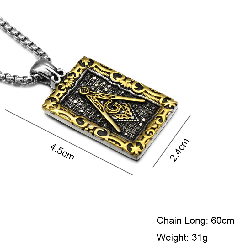 Hip punk retro pattern masonic free mason freemasonry pendants hip punk retro pattern masonic free mason freemasonry pendants necklaces goldsilver stainless steel necklace for men jewelry in pendant necklaces from aloadofball Gallery