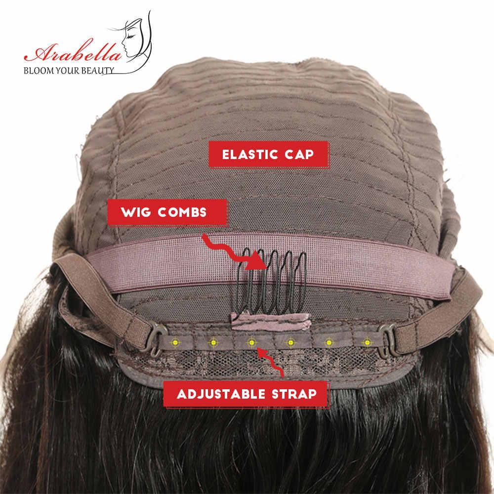 Arabella перуанский 4*4 Кружева Закрытие человеческих волос парики прямо Волосы remy натуральный Цвет короткий боб парики 180% плотность полный и толстый