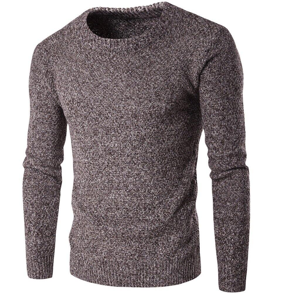 54a243e8d Nova Marca de Moda Inverno Homens Camisolas Pullovers Tricô Grosso Quente  Designer Casual Slim Fit Malha Malhas Homem