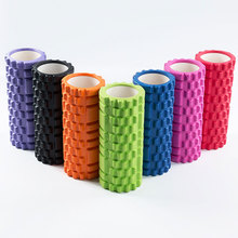 Pilates Yoga Roller Foam Massage Rumble Foam Roller Grid Gym Fitness EVA Hollow High-density Yoga Column Balance Stick